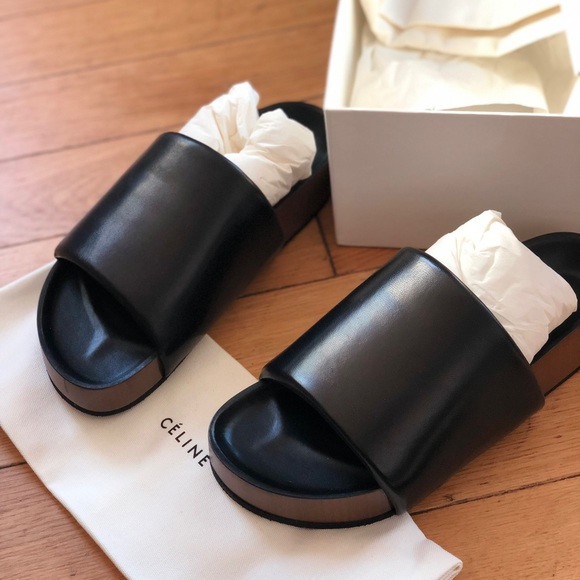 70b10b341f16b9 Celine Shoes | Padded Band Sandal With Stacke New | Poshmark